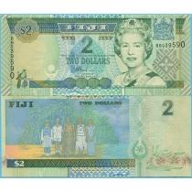 Фиджи 2 доллара 2002 год.