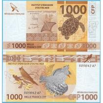 Французские Тихоокеанские Территории 1000 франков 2014 год.