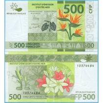 Французские Тихоокеанские Территории 500 франков 2014 год.