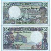 Новые Гебриды 500 франков 1979 год.