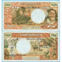 Новые Гебриды 1000 франков 1979 год.