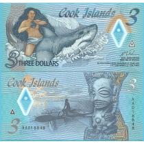Острова Кука 3 доллара 2021 год.