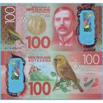 Новая Зеландия 100 долларов 2016 год.