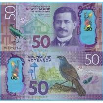 Новая Зеландия 50 долларов 2016 год.
