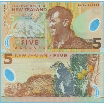 Новая Зеландия 5 долларов 2004 год.