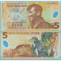 Новая Зеландия 5 долларов 2005 год.