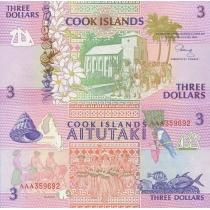 Острова Кука 3 доллара 1992 год.