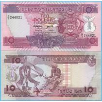 Соломоновы острова 10 долларов 1986 год.