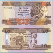 Соломоновы острова 20 долларов 1986 год.