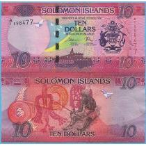 Соломоновы острова 10 долларов 2017 год.