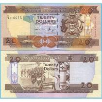 Соломоновы острова 20 долларов 2011 год.