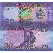 Соломоновы острова 20 долларов 2017 год.