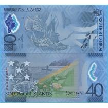 Соломоновы острова 40 долларов 2018 год. 40 лет независимости.