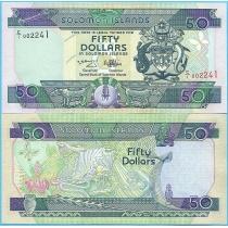 Соломоновы острова 50 долларов 1996 год.