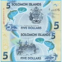 Соломоновы острова 5 долларов 2019 год.