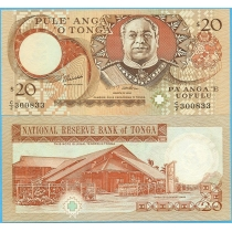 Тонга 20 паанга 1995 год