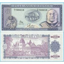 Тонга 10 паанга 1992 год.
