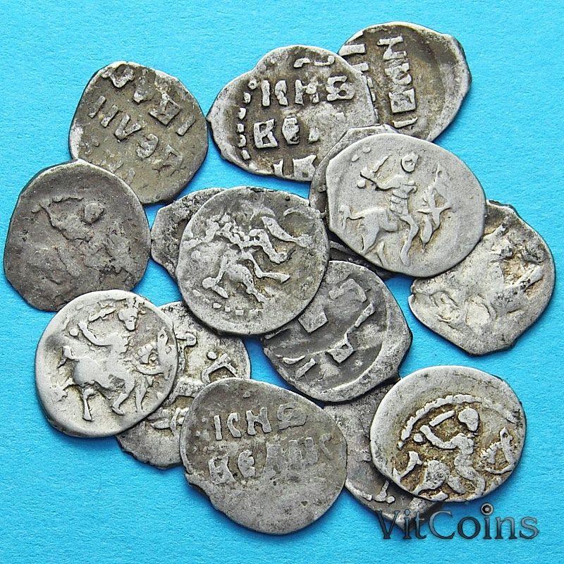 Чешуйка. Деньга Ивана IV  1535-1584 год. Серебро, Москва. Случайная монета без выбора.