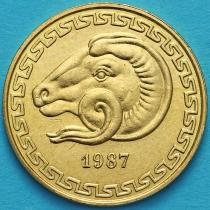 Алжир 20 сантимов 1987 год. ФАО. Баран.