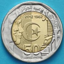 Алжир 200 динар 2018 год. 50 лет Независимости.