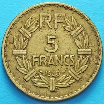 Алжир 5 франков 1940 год. Франция для Алжира.