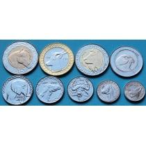 Алжир набор 9 монет 1992-2013. Животные.