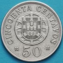 Португальская Ангола 50 сентаво 1928 год.