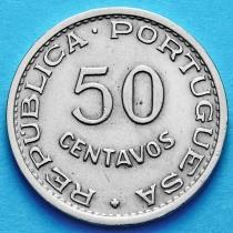 Португальская Ангола 50 сентаво 1950 год.