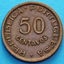 Португальская Ангола 50 сентаво 1953 год.