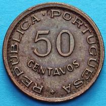 Португальская Ангола 50 сентаво 1954 год.