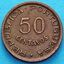 Португальская Ангола 50 сентаво 1957 год.