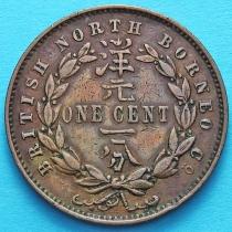 Британское Северное Борнео 1 цент 1889 год.