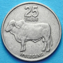 Ботсвана 25 тхебе 1984-1989 год. Зебу.