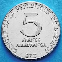 Бурунди 5 франков 1980 год.
