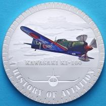 Бурунди 5000 франков 2015 год. Кавасаки KI-100. Серебро
