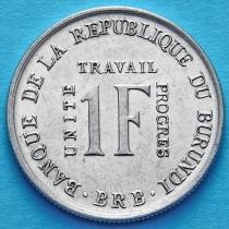 Бурунди 1 франк 1970 год. AUNC.