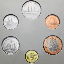 Кабо Верде набор 6 монет 1994 год. Корабли.