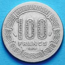 Центральная Африка 100 франков 1976 год.