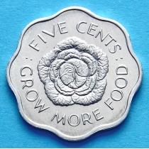 Сейшельские острова 5 центов 1972 год. ФАО.