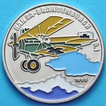 Бенин 200 франков 1995 год. Ганза-Бранденбург D.I. Эмаль