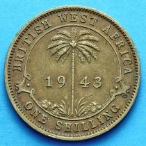 Британская Западная Африка 1 шиллинг 1938-1952 год.
