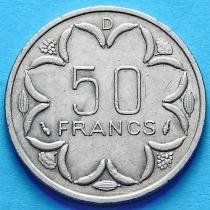 Центральная Африка 50 франков 1976-1985 год. Габон.