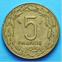 Центральная Африка 5 франков 1975-1984 год.