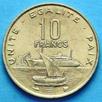 Джибути 10 франков 1996-2004 год.