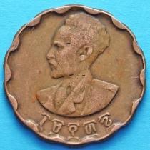 Эфиопия 25 центов 1944 (1936). Хайле Селасси. XF