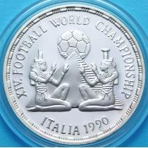 Египет 5 фунтов 1990 год. Футбол. Серебро