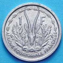 Французская Экваториальная Африка 1 франк 1948 год.