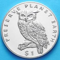 Эритрея 1 доллар 1995 г. Капский филин