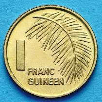 Гвинея 1 франк 1985 год.