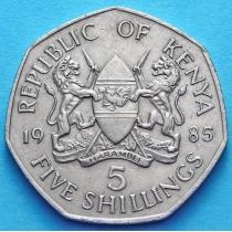Кения 5 шиллингов 1985-1994 год